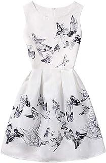1fb43487b YFCH Vestido Estampado de Princesa A-Línea para Niñas Vestido Vintage de  Dama de Honor