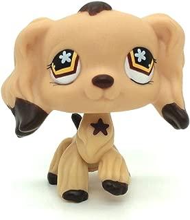 xinxin Littlest Pet Shop Toys Rare LPS #575 Figure Tan Cocker Spaniel Dog Flower Eyes