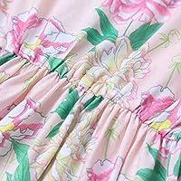 家族のママと私夏服セットお揃いのプリントノースリーブドレスとカジュアルマキシドレススリングノースリーブタンクロングドレス母娘用,ピンク,90
