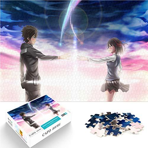 su nombre de espalda con espalda Jigsaw puzzle juguetes para adultos y niños Dating artifact Mini 1000Pcs 38x26cm Paper Puzzle