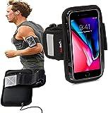 Navitech wasserdicht Schwarz Sport/Fitness/Jogging/Radfahren/Skifahren Armband Tasche Oberarmtasche Schutz Hülle Etui Case für dasMEDION Life S5004 ALDI