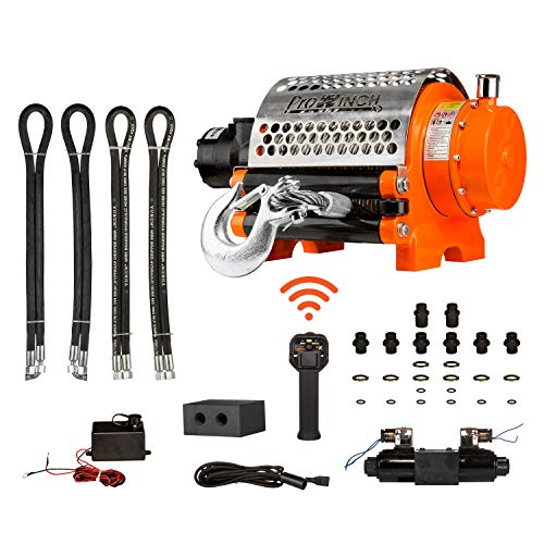 Prowinch Hydraulic Winch Incorporated Roller 20000 lbs Heavy Duty 12V Wired/Wireless Control