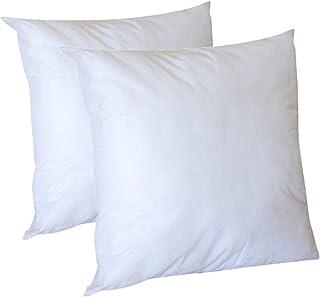 Lot de 2 Oreillers Intérieur, Microfibre, Oreiller Ferme Oreiller Moelleux Coussin Blanc Garnissage Fibre Creuse, Cotton, ...