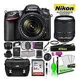 Nikon D7200 DSLR Digital Camera with 18-140mm VR Lens (1555) USA Model Deluxe Bundle -Includes- Sandisk 64GB SD Card + Nikon Gadget Bag + Filter Kit + Spare Battery + Telephoto Lens + More