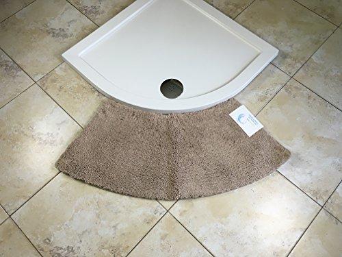 Price comparison product image Cazsplash Quadrant Medium Curved Shower Mat (Stone)