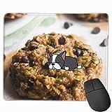 Chocolate Chip Zucchini Bread Haferflockenplätzchen Rechteckiges rutschfestes Gaming-Mauspad Tastatur Gummi-Mauspad für Heim- und Büro-Laptops