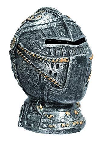 Spardose mit Helm Medieval aus Kunstharz, 13,2 / 12,5 / 8,5 cm