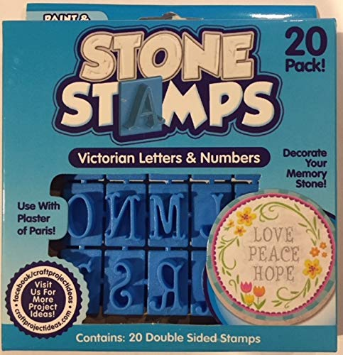 Victorian Double-Sided Stone Stamp Set, 20-Count