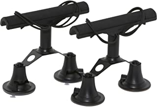 Vac Rac Quad Rack Fly Rod Mount Carrier Vacuum Suction Cup, Black
