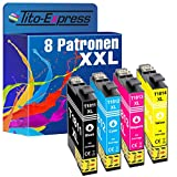 Tito-Express PlatinumSerie 8X Tinten-Patrone XXL TE-1811 - TE-1814 18XL als Ersatz für Epson XP-102 XP-202 XP-205 XP-212 XP-215 XP-225 XP-402 XP-405 XP-412 XP-413 XP-415 XP-420 XP-422 XP-425