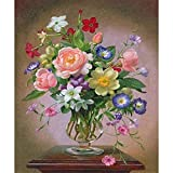 DIY 5D Diamond Painting Kits, for Adults Kids A Vase of Flowers Diamond Paintings Full Crystal Rhinestone Diamond Embroidery Perfect for Home Wall Decor 10x12in S-4810