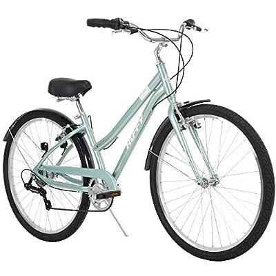 Huffy Hyde Park Womens Comfort Bike, 7 Speed, 27.5 Inch Wheels, Gloss Mint