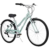 Huffy Hyde Park Womens Comfort Bike, 7 Speed, 27.5 Inch Wheels, Gloss Mint
