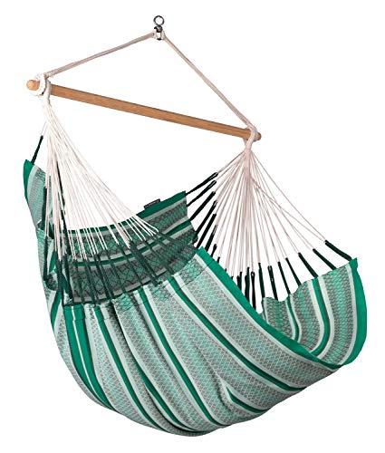 LA SIESTA Habana Agave - Organic Cotton Comfort Size Hammock Chair