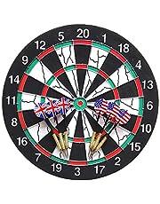POFET Tradycyjny styl zestaw tarcz do darta dwustronna wisząca gra planszowa z 6 rzutkami do wewnątrz na zewnątrz zabawa