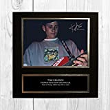 Blink 182 - Tom DeLonge 1 NDB Signed Reproduction Autographed Wall Art - 10 inch x 10 inch Print (Card Mounted)