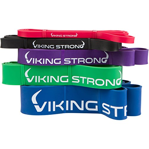 Viking Strong Pull Up Assist Bands - Resistance Bands - Mobility Band - Powerlifting Bands - Jump Stretch Bands, Red 10-35lbs Single Band