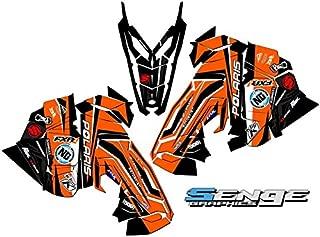 Compatible with Polaris 2015-2017 Axys RMK Savage Orange Sled Wrap Kit