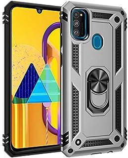 حافظة مناسبة لهاتف سامسونج جالاكسي M30s M30 - حافظة هاتف صلبة بتصميم حلقة معدنية لهاتف سامسونج جالاكسي A90 5G A50s A50 A30...
