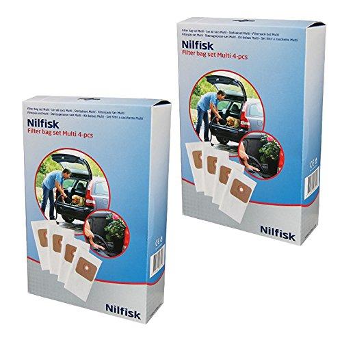Nilfisk Lot de 8 sacs à poussière pour aspirateur Multi Wet & Dry 20 20T 30T