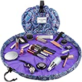 Lay-n-Go Drawstring Makeup Bag – Purple Paisley, 20 inch - Travel Cosmetic Bag and Jewelry, Electronics, Toiletry Bag – Perfect Gift