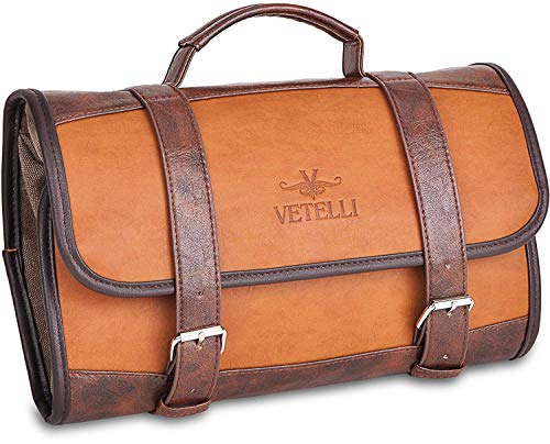 Vetelli Hanging Toiletry Bag for Men - Dopp Kit / Travel Accessories...