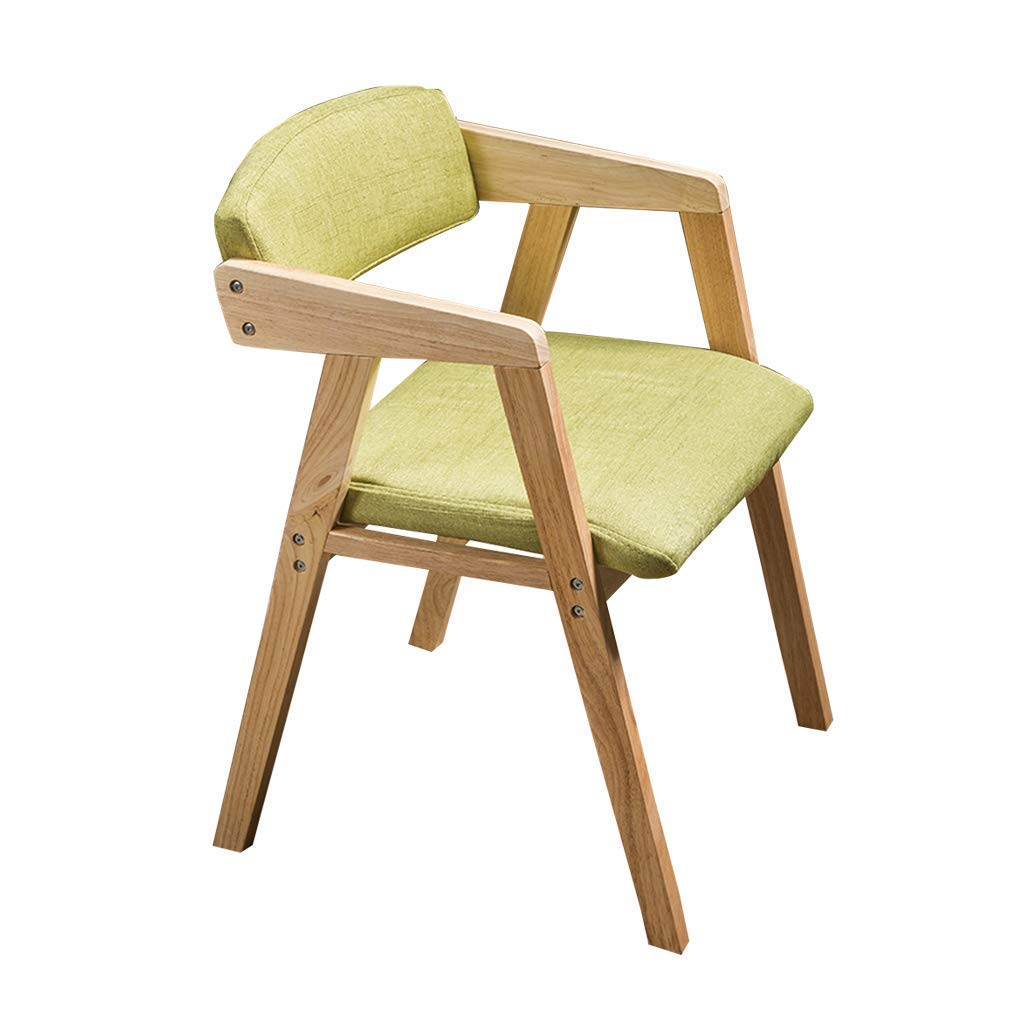 Amazon.com: QQXX Simple Wooden Armchair Dining Chair, Study Chair