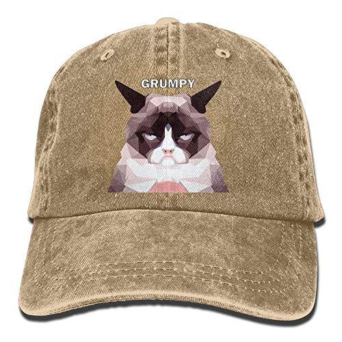 Grumpy Cat Denim Hat Adjustable Men's Snapback Baseball Caps