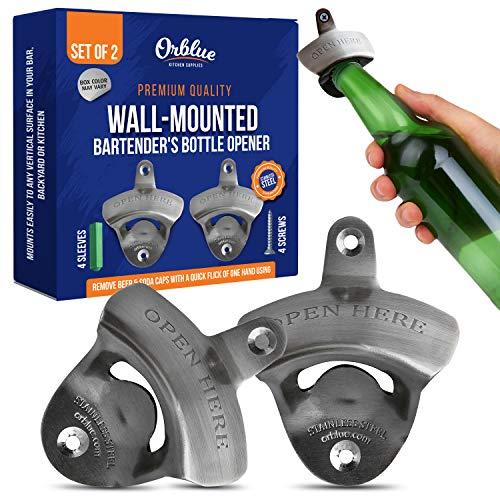 ORBLUE Flaschenöffner zum an die Wand anbringen (2er-Pack)