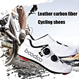 YURU Unisex Bike Shoes,Adults' Cycling Shoes,Cushioning Breathable Professional Mountain Cycling Shoes,White-EU44