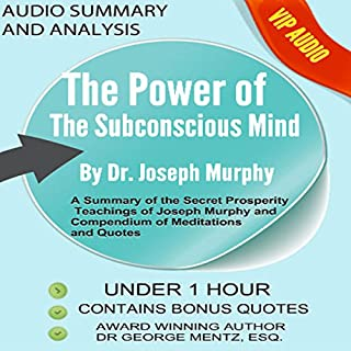 Summary and Analysis of the Power of the Subconscious Mind by Joseph Murphy audiobook cover art