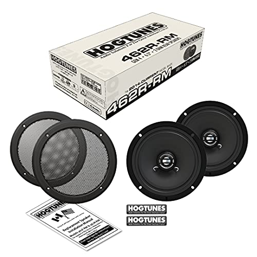 Hogtunes 462R-RM Gen4 6.5' 2 Ohm Replacement Rear Speakers with Grills for 2014+ Harley-Davidson Ultra/Trike Models 462R-RM