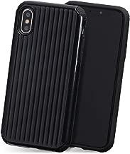iPhone XR ケース ポリカーボネート TPU PC 耐衝撃 スーツケース アタッシュ Qi対応 カバー 黒 「 キャリー 」 iPhoneXR,1.ブラック iPhoneXR,1.ブラック