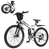 VIVI E-Bike Mountainbike,26 Zoll 350W Motor Erwachsene Faltbares Elektrofahrrad,Faltbares...