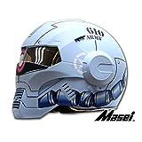 Masei フルフェイスへルメット ロボヘル610Z ブルーHELMET S MA-610Z-L-S