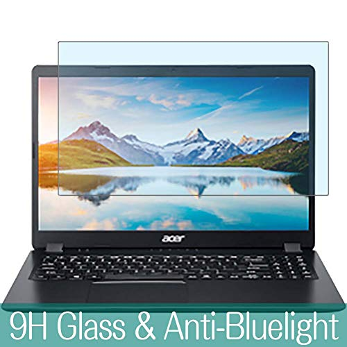 Synvy Anti Blue Light Tempered Glass Screen Protector Compatible with Acer Aspire 3 A315-56-H58U / k 15.6' Visible Area 9H Protective Screen Film Protectors (Not Full Coverage)