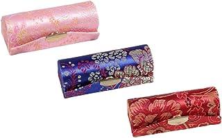 SUPVOX Custodia per rossetto 3 pezzi porta rossetto in tessuto di raso di seta con specchio custodia per il trucco custodi...