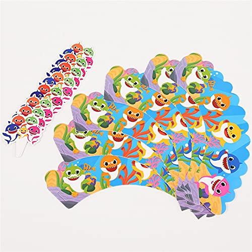 YSJJEFB Globos Decoración de la Fiesta de cumpleaños Baby Globo vajilla desechable Mantel de Tablas de Papel Placa de Papel Regalo de la Fiesta de Bienvenida al bebé ( Color : 12pcs Cake Rim )
