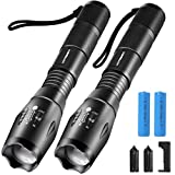 URPOWER Tactical Flashlight Super Bright CREE LED Flashlight Zoomable Tactical...
