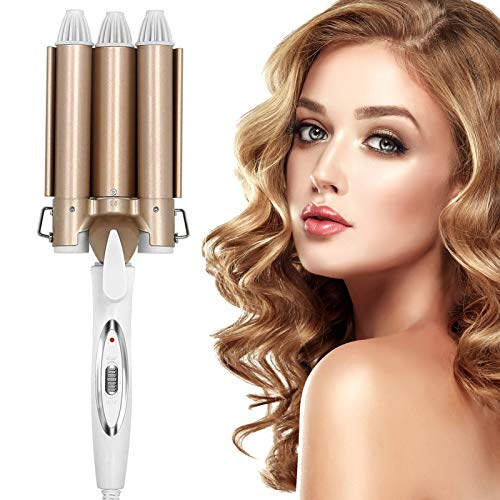 Aceshop Hair Curler 3 Barrel Curling Iron Wand 25MM Hair Wavers with Two...