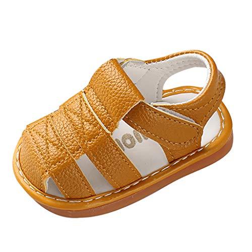 Jaysis Römische Sandalen Jungen Mädchen Freizeitschuhe Leichte Und Komfortable Outdoor Kinderschuhe Mode Kuh-Muskel Kinder Schuhe rutschfest Abriebfest Größe 15-19