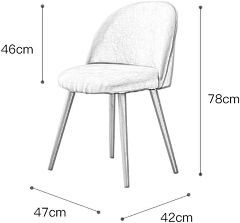 TONG YUE SHOP Chaise de Salle à Manger Maison Minimaliste Moderne Net Chaise de Maquillage Rouge s'habiller Chaise de Dossier Nordique ménage (Color : Pink) Yello