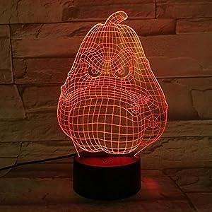 3D Night Light Table Lamp Plants & Zombies 3D Illusion USB Decor Touch RGB Child Kids Gift Squash Tracy Night Light LED Decoration KATA