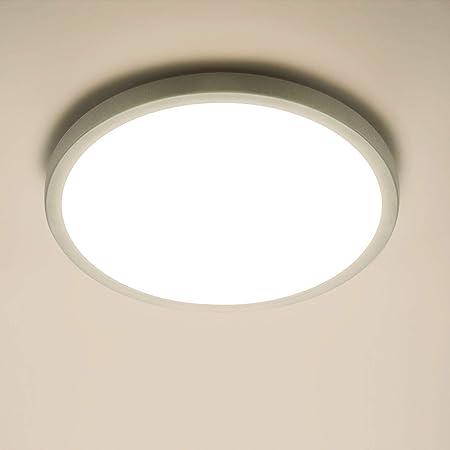 Yafido Plafonnier LED 18W UFO Panel Rond Lampes de Plafond Moderne Ultra-mince LED Lampe 1620LM Blanc Naturel 4500K Facile à installer Applicable à Salle de Cuisine Salon Balcon Ø18cm