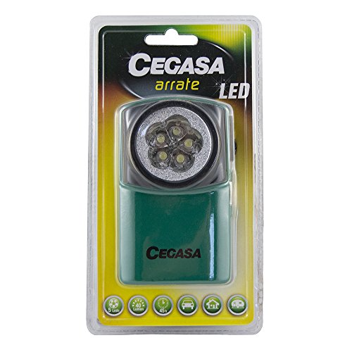 POESSA 001040 LINTERNA CEGASA ARRATE 5 LEDS, Verde, 11x7x4cm