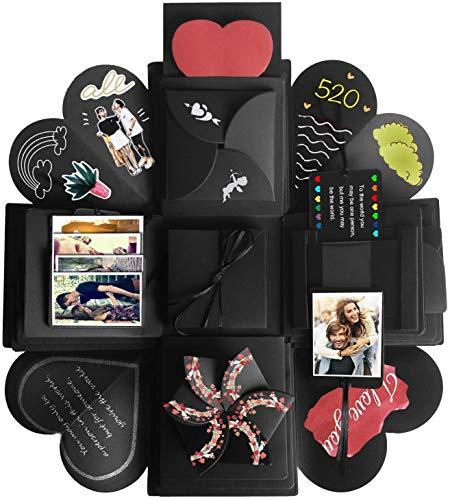 JRing Explosions Box, Kreative Überraschung Geschenk Box DIY Faltendes Fotoalbum, Handgemachtes Scrapbook für Hochzeit Geburtstag Jahrestag Valentine, Muttertag, Weihnachten