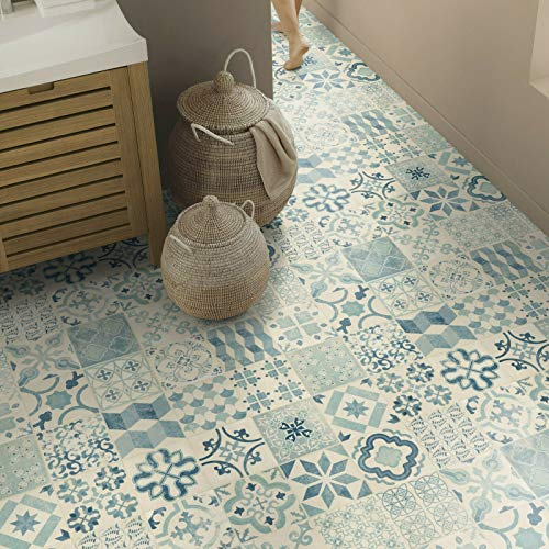 Tarkett Exclusive 240 Almeria Blue PVC Bodenbelag (16,90 € p. m²) (Muster DIN A4)