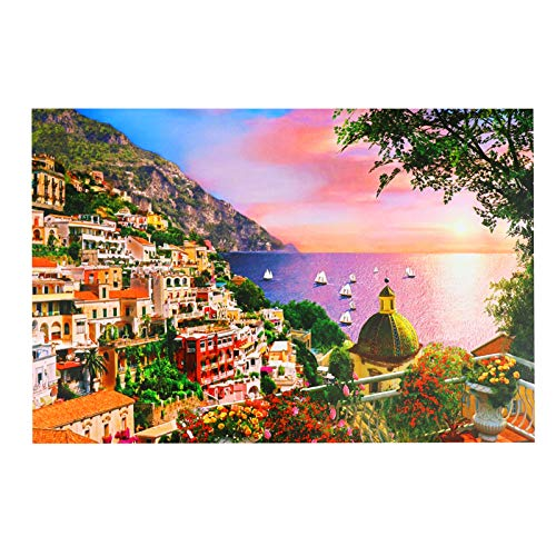 Puzzle de 1000 Piezas para Adultos, Casa de Campo Obra de Arte de Juego de Rompecabezas para Adultos,Adolescentes(70x50cm) (Dreamy Positano Italien)