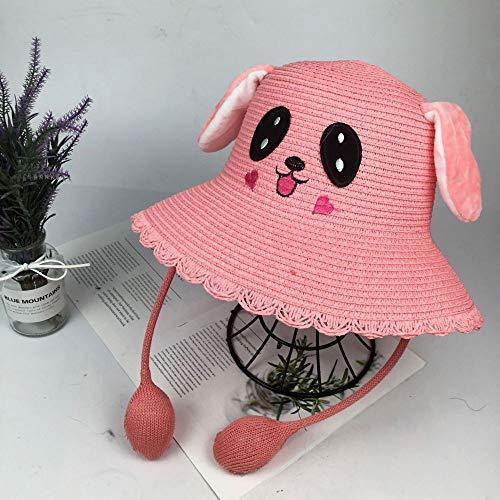geiqianjiumai Weibliche Ohren bewegen die Kaninchen Eltern-Kind-Sonnenhut Kinder Schatten Hut rosa Erwachsener