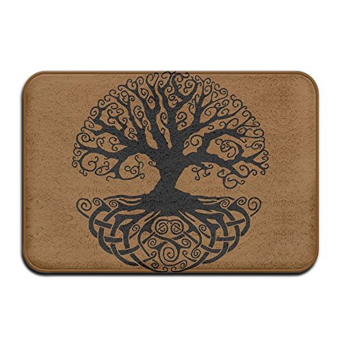Bikini bag Indoor/Outdoor Door Mats with Celtic Tree Knots Printed for Front Porch